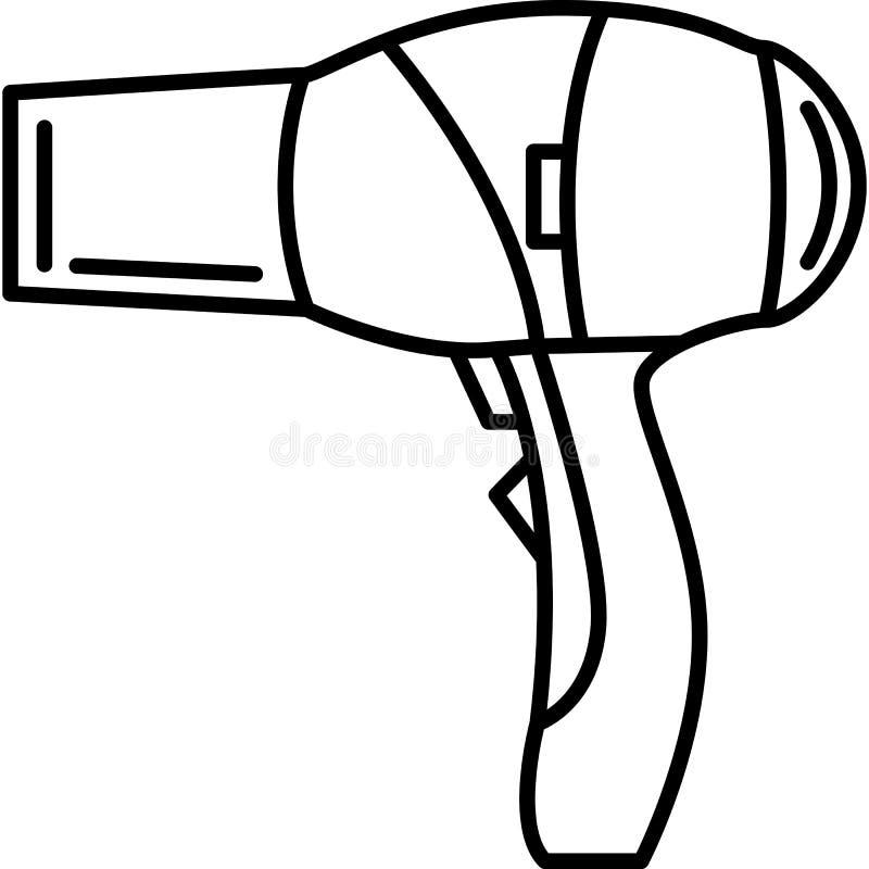 Vecteur d'ic?ne de s?che-cheveux illustration libre de droits