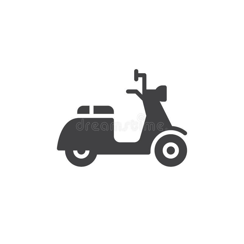 Vecteur d'icône de scooter, signe plat rempli, pictogramme solide d'isolement sur le blanc illustration libre de droits