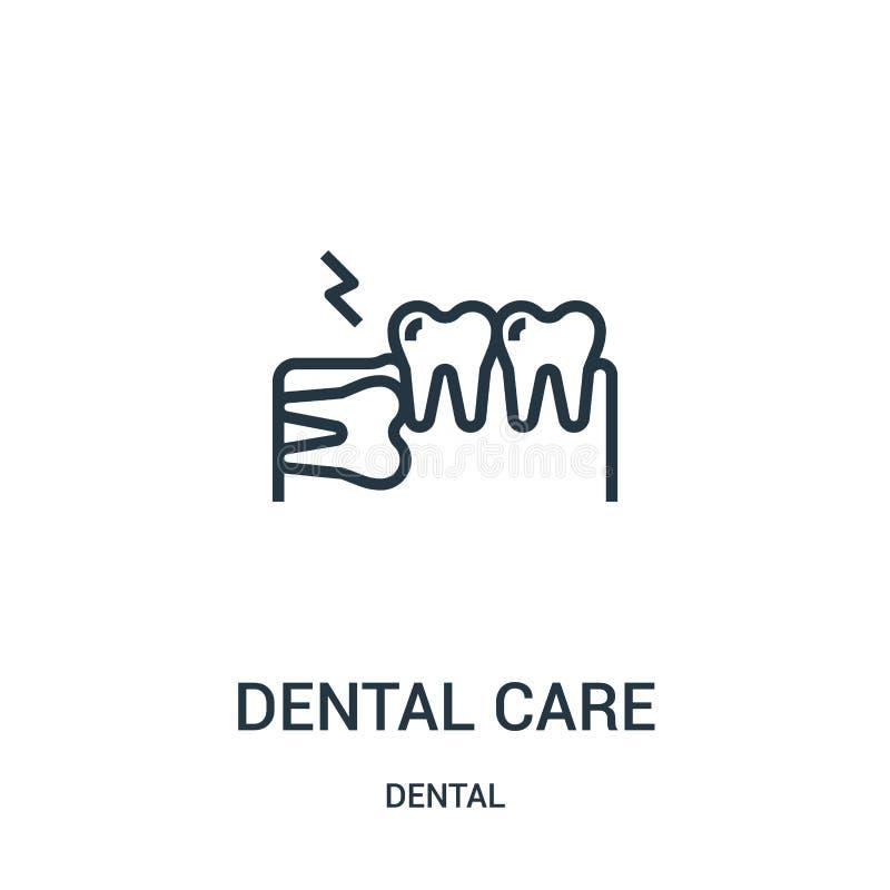 vecteur d'ic?ne de soins dentaires de la collection dentaire Ligne mince illustration de vecteur d'ic?ne d'ensemble de soins dent illustration libre de droits