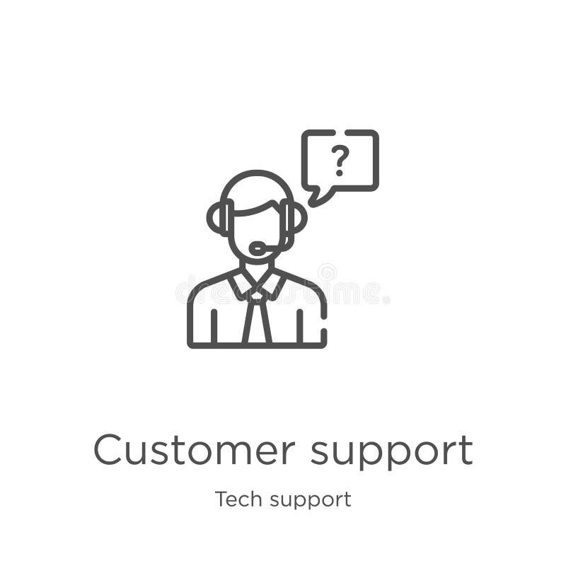 vecteur d'ic?ne de support ? la client?le de collection de support technique Ligne mince illustration de vecteur d'ic?ne d'ensemb illustration stock