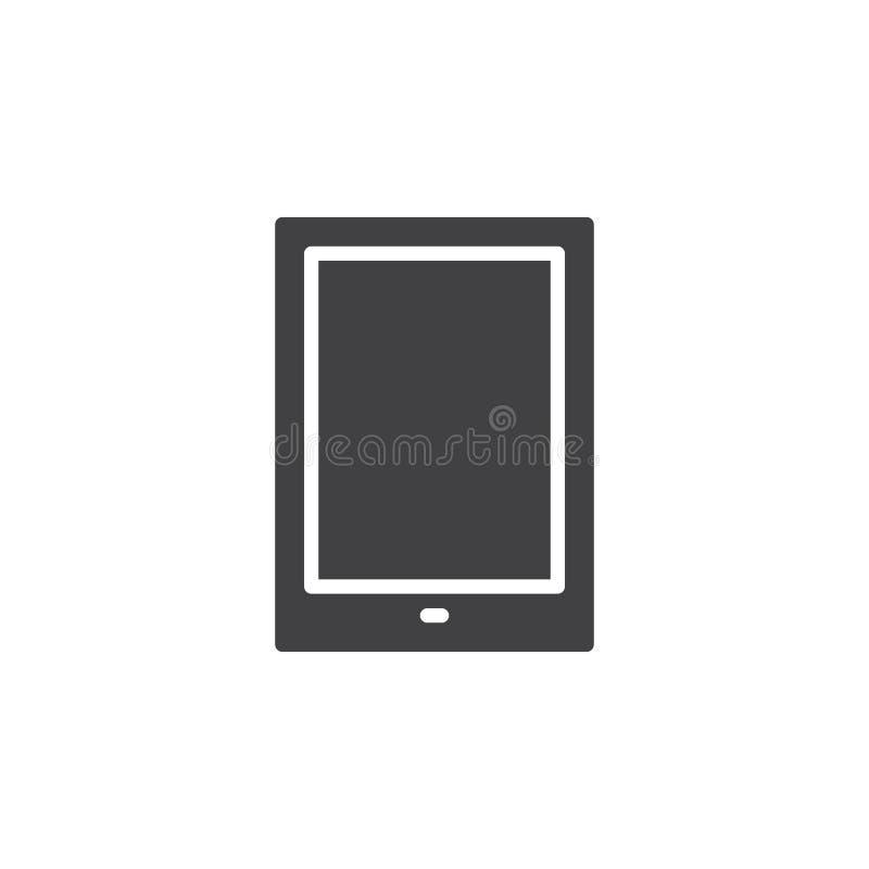 Vecteur d'icône de tablette, signe plat rempli, pictogramme solide d'isolement sur le blanc illustration libre de droits