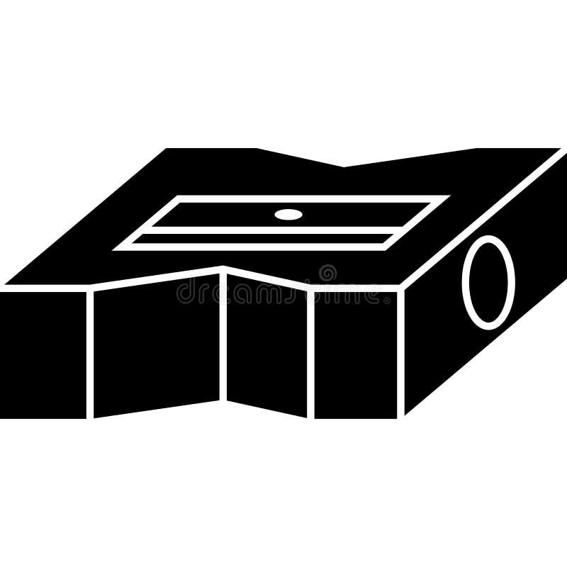 Vecteur d'ic?ne de taille-crayons illustration libre de droits