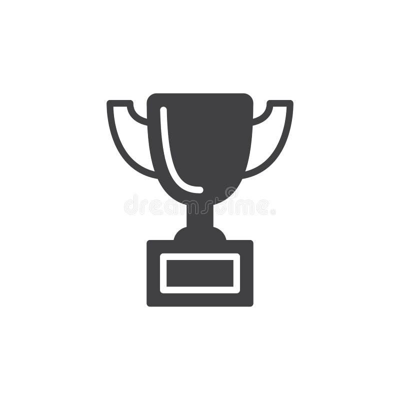 Vecteur d'icône de tasse de trophée illustration de vecteur
