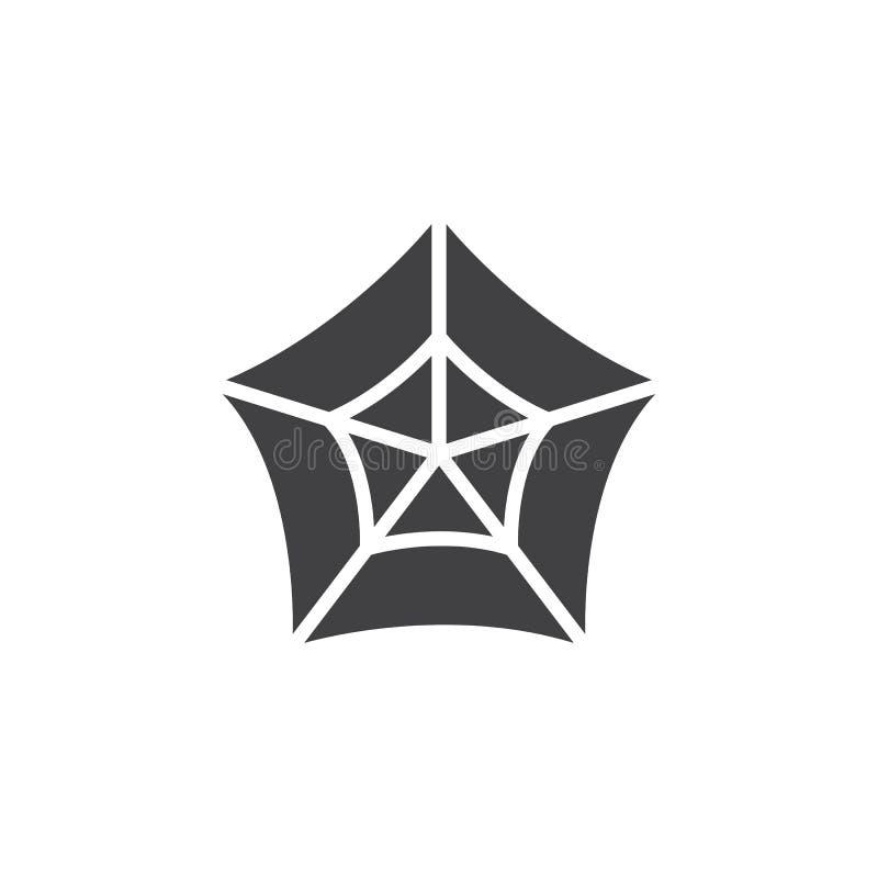 Vecteur d'icône de toile d'araignée, signe plat rempli, pictogramme solide d'isolement sur le blanc illustration de vecteur