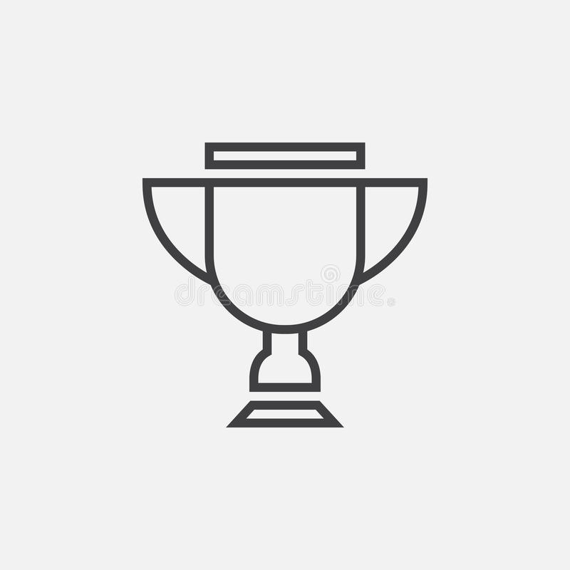 Vecteur d'icône de trophée d'isolement sur le gris illustration libre de droits