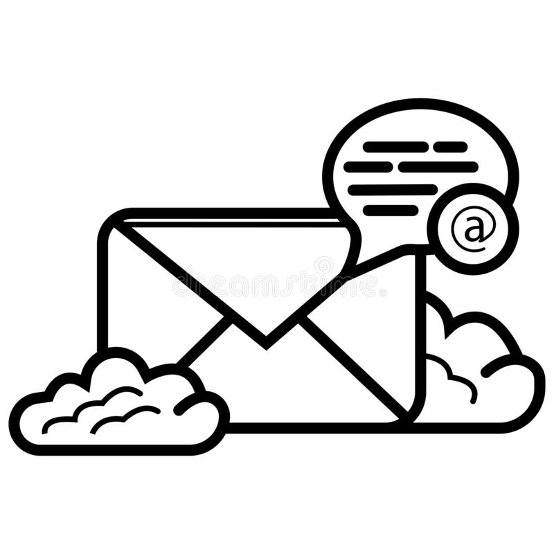 Vecteur d'ic?ne d'email illustration stock