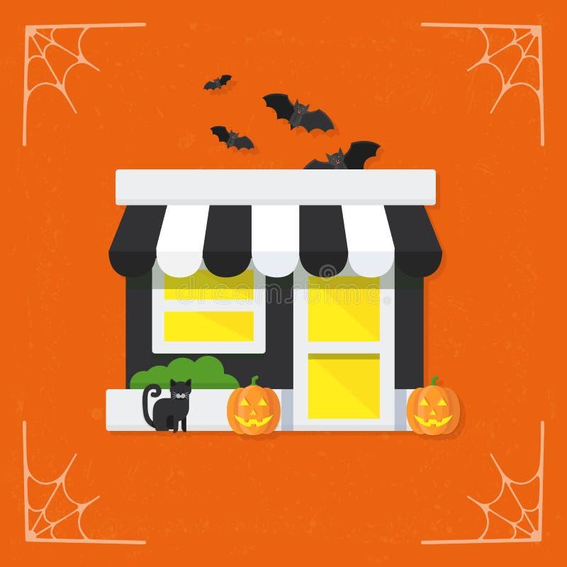 Vecteur d'icône stockez/boutique/marché illustration stock