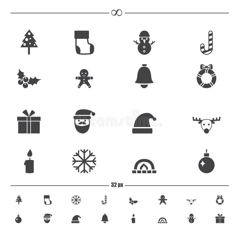 Vecteur d'icônes de Noël illustration libre de droits