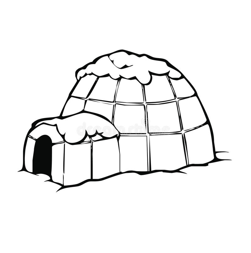 vecteur d'igloo illustration libre de droits