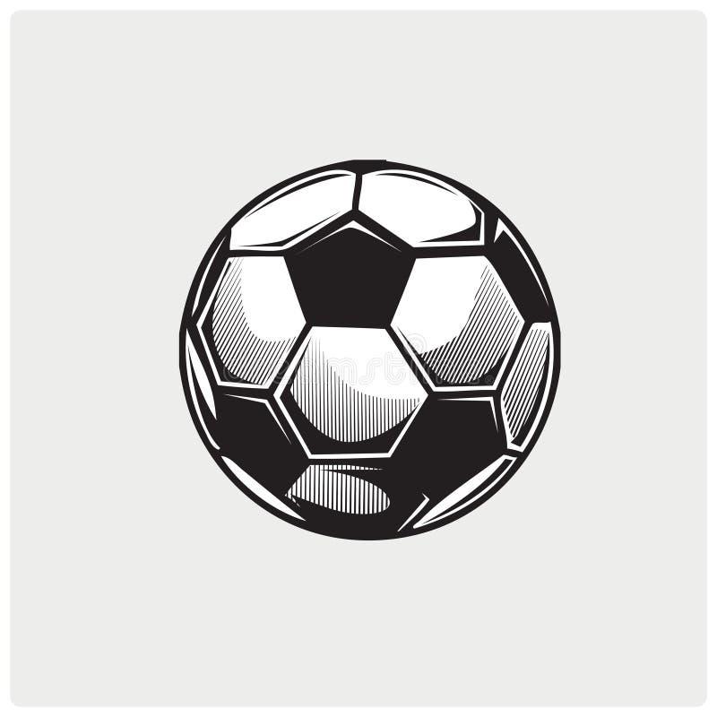 Vecteur d'illustration de ballon de football photo libre de droits