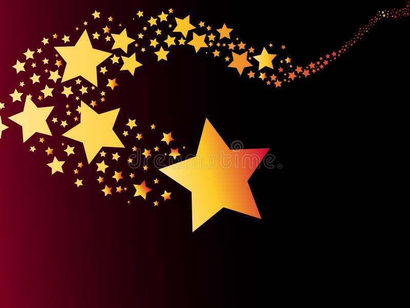 Vecteur d'illustration de comète d'étoile filante illustration stock