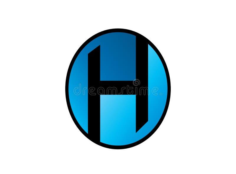 Vecteur d'illustration de conception de logo de foor de symbole d'alphabet de H illustration stock