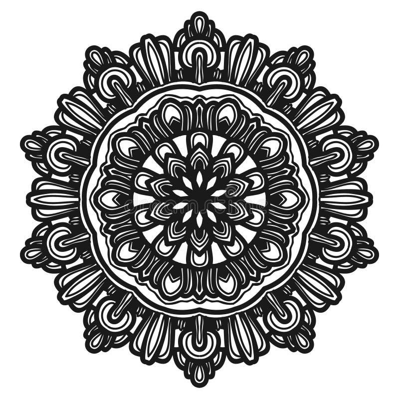 Vecteur d'illustration de fleur de mandala photo stock