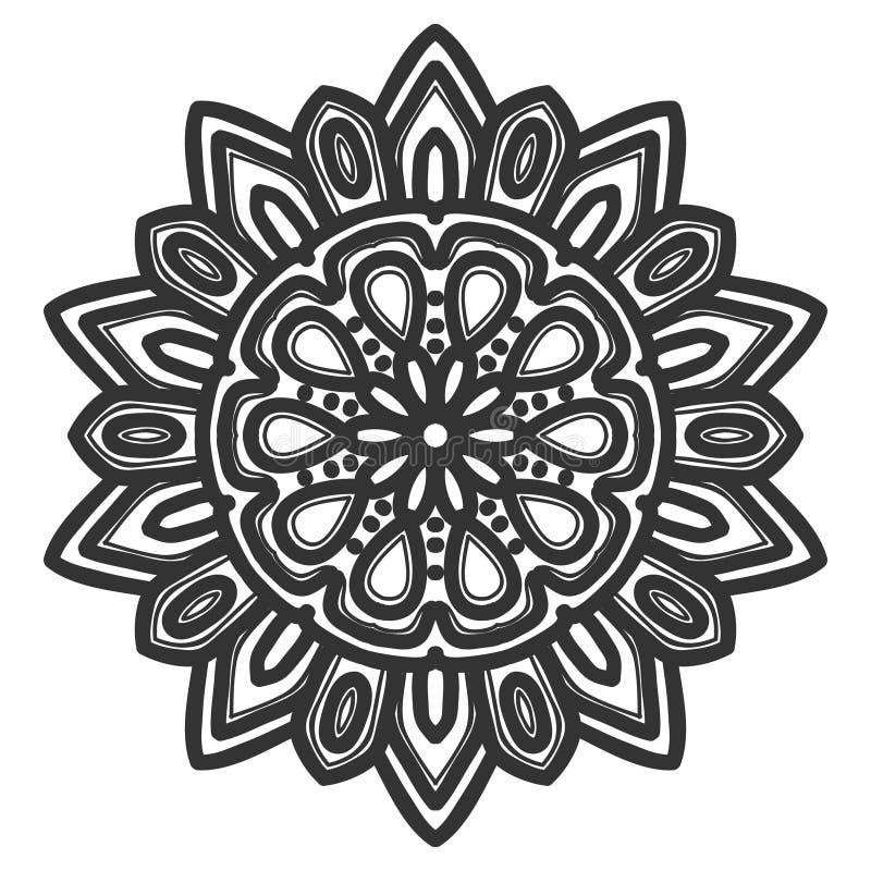 Vecteur d'illustration de fleur de mandala image libre de droits