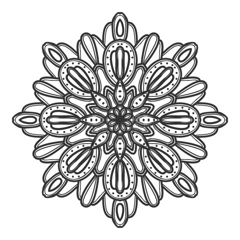 Vecteur d'illustration de fleur de mandala images stock