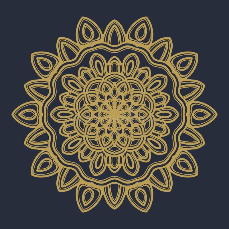 Vecteur d'illustration de fleur de mandala images libres de droits