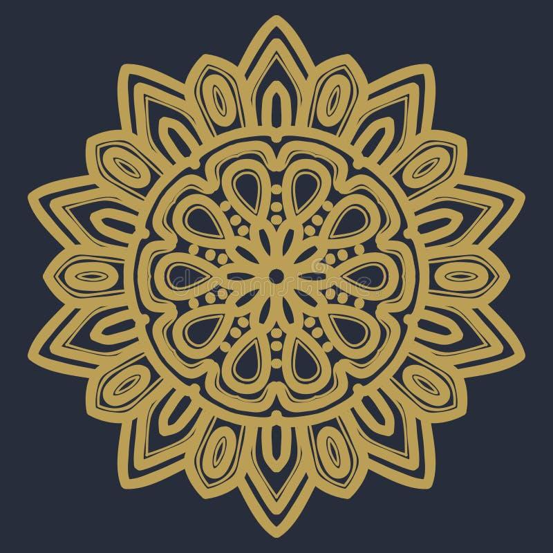 Vecteur d'illustration de fleur de mandala photo libre de droits