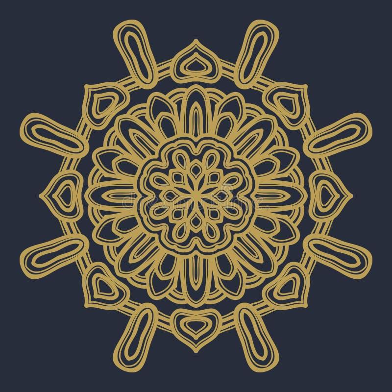 Vecteur d'illustration de fleur de mandala photos stock