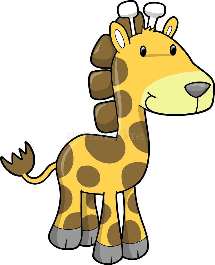 vecteur d'illustration de giraffe illustration de vecteur