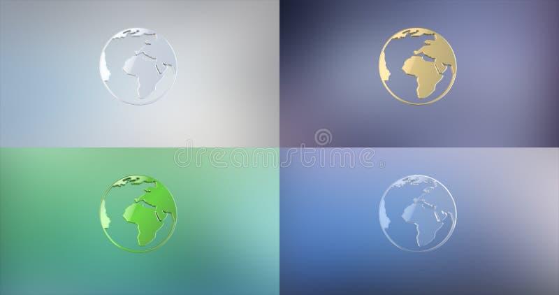 vecteur d'illustration de graphisme de la terre 3d photographie stock libre de droits