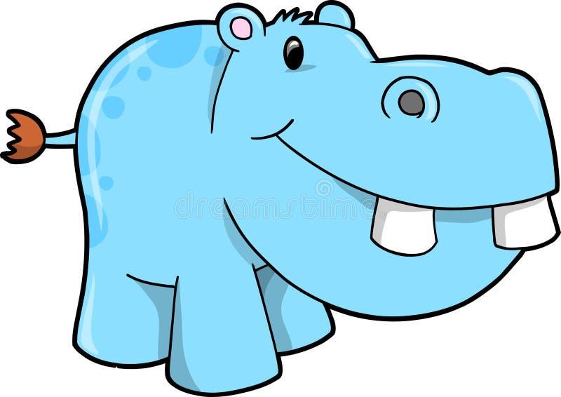 vecteur d'illustration de hippopotamus illustration de vecteur