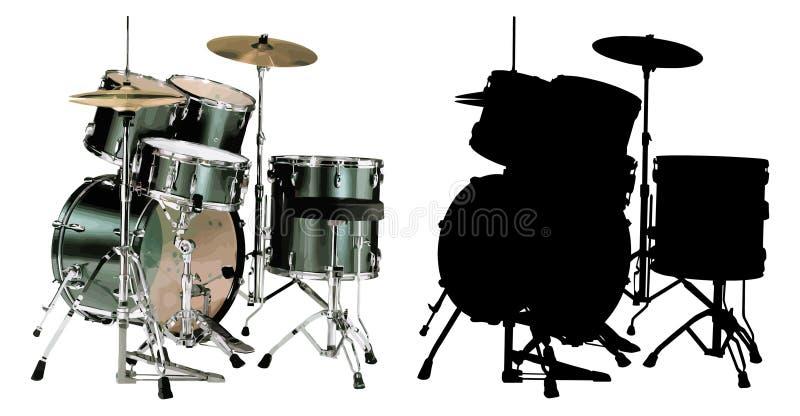 vecteur d'illustration de les deux tambours illustration stock