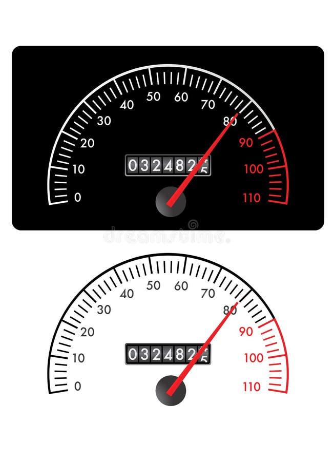 Vecteur d'indicateur de vitesse illustration libre de droits