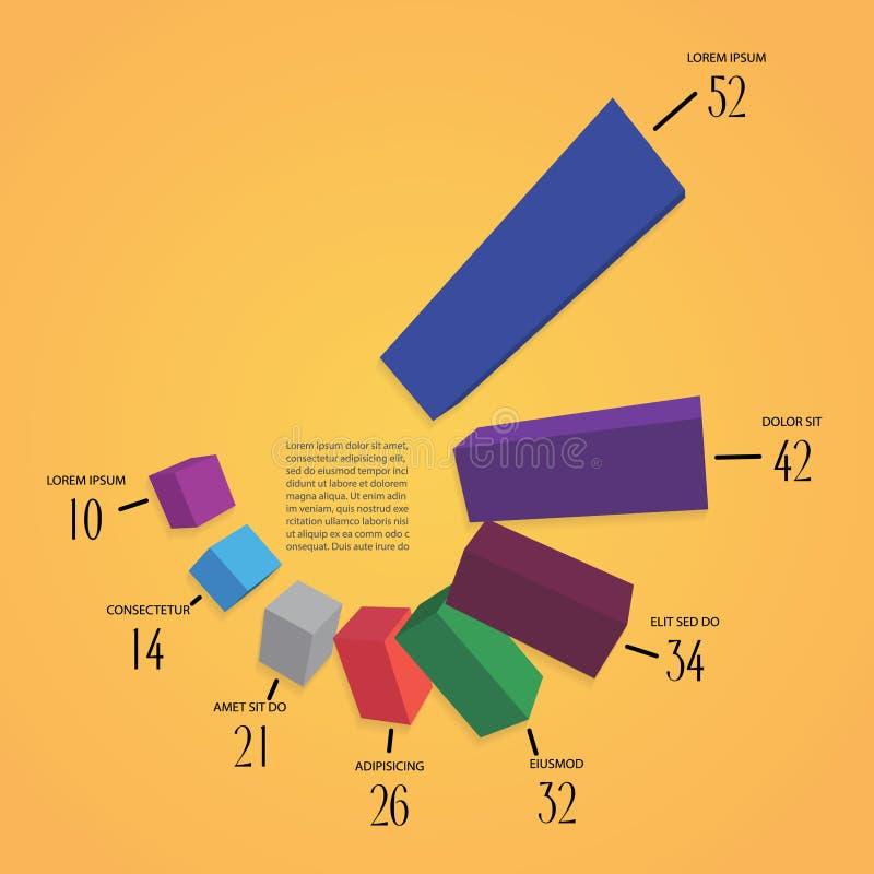 Vecteur d'infographics de Colorfull 3d illustration de vecteur
