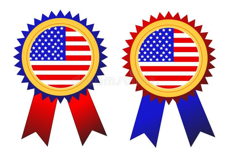 Vecteur d'insignes des Etats-Unis illustration de vecteur