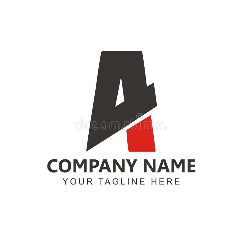 Vecteur d'inspiration de la lettre A4 Logo Design illustration stock