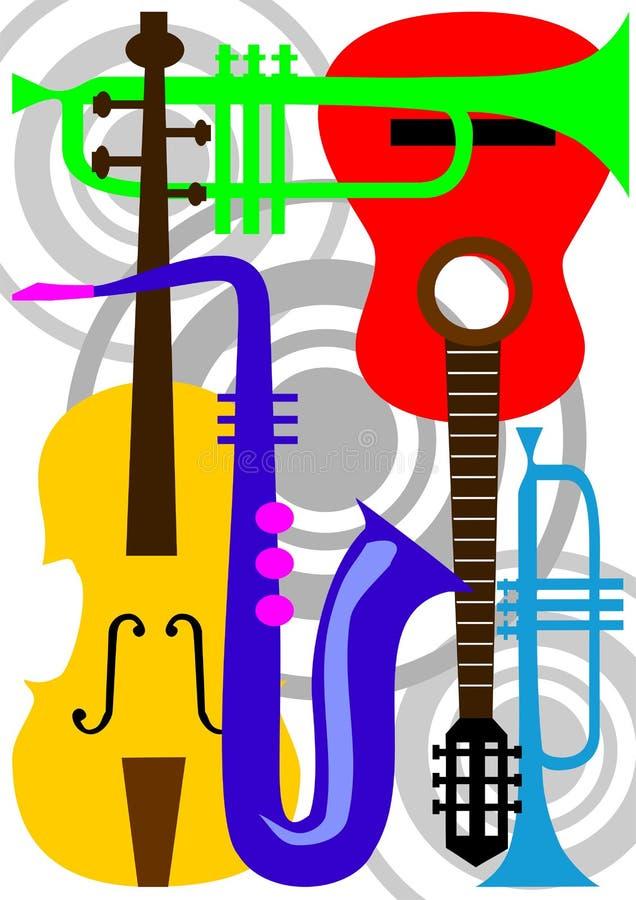 Vecteur d'instrument de musique illustration stock