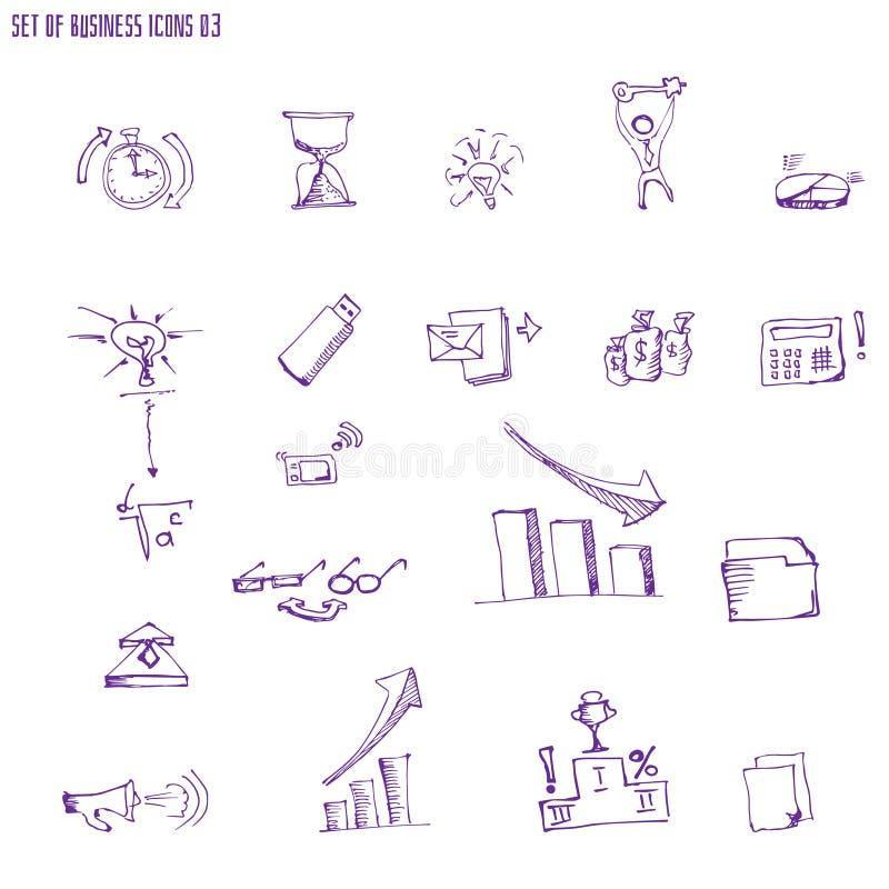 Vecteur d'isolement par éléments infographic de conception de griffonnage illustration libre de droits