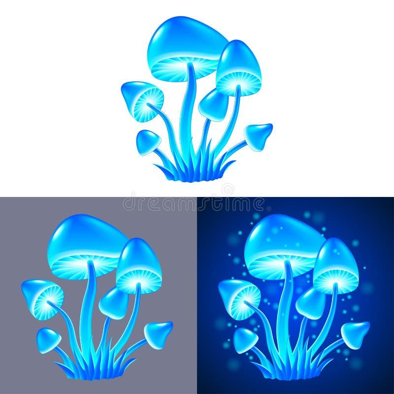 Vecteur d'isolement par champignons magiques illustration de vecteur