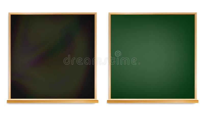 Vecteur d'isolement par conseil pédagogique Cadre en bois Illustration vide classique de tableau de salle de classe illustration de vecteur