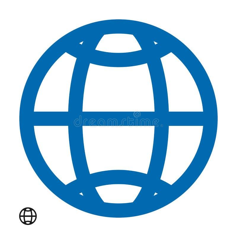 Vecteur d'isolement par icône eps10 de HTTP d'adresse de WWW Signe plat simple moderne de globe Concept d'Internet d'affaires Rés illustration stock