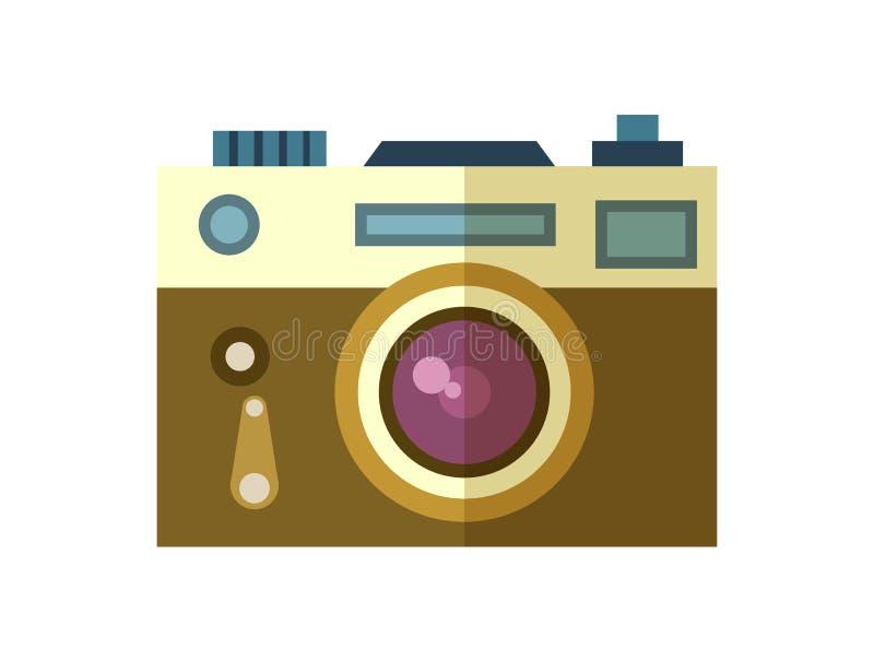 Vecteur d'isolement par icône d'appareil-photo de photo illustration libre de droits