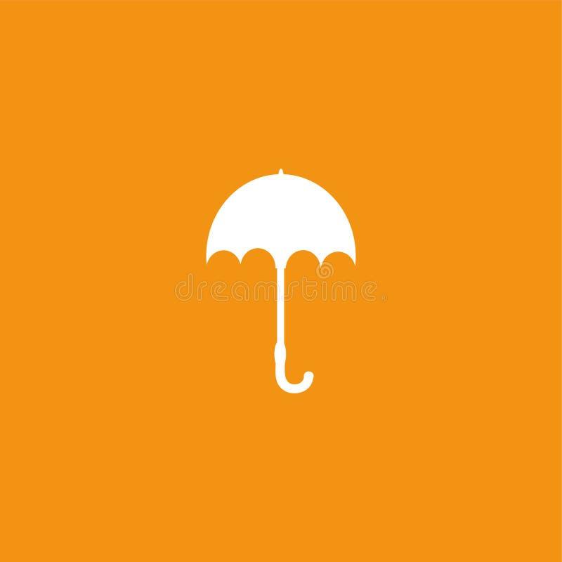 Vecteur d'isolement par illustration d'icône de parapluie illustration libre de droits
