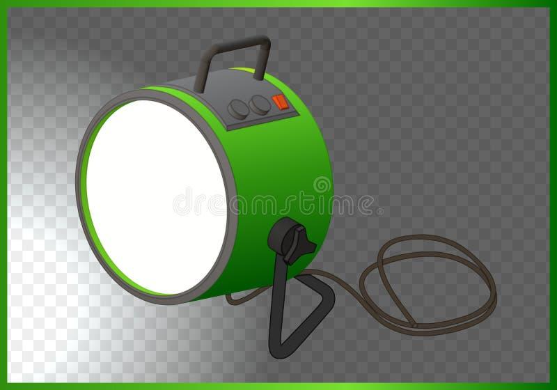 Vecteur 3d isométrique de projecteur illustration libre de droits
