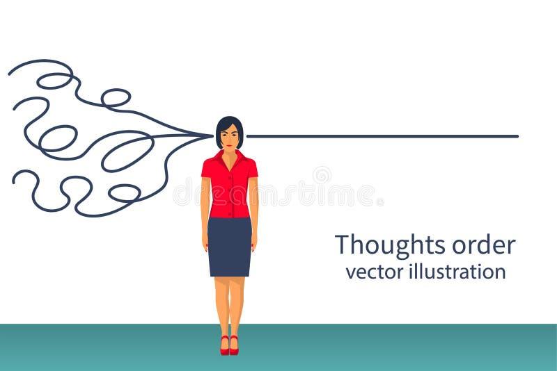 Vecteur d'ordre de pensées illustration de vecteur
