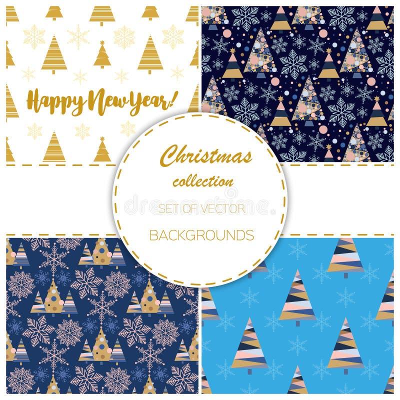 Vecteur d'ornement de célébration d'étoile de neige de décembre de saison de conception de sapin de vacances d'arbre de Noël d'hi illustration libre de droits