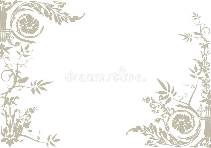 Vecteur d'ornement floral illustration libre de droits