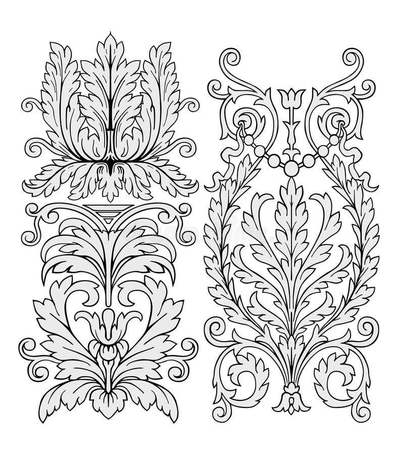 vecteur d'ornement floral illustration de vecteur
