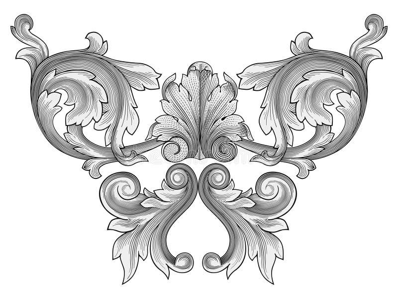 vecteur d'ornement floral illustration stock