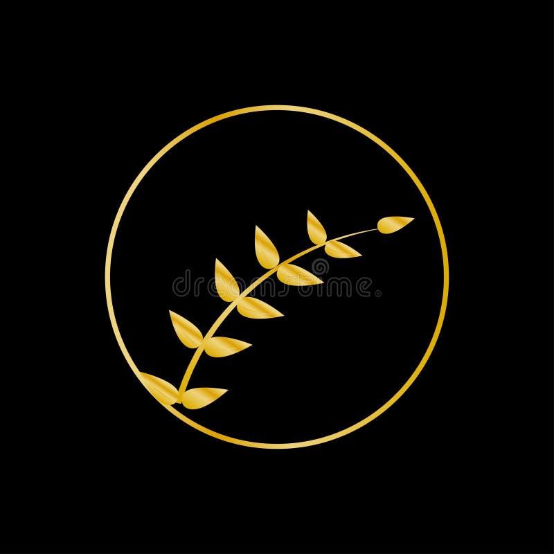 Vecteur d'ornement Logo floral de vecteur pour la boutique, restaurant, menu, hôtel illustration libre de droits