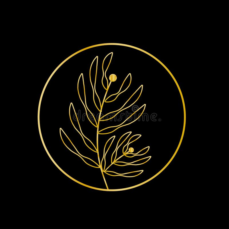 Vecteur d'ornement Logo floral de vecteur pour la boutique, restaurant, menu, hôtel illustration stock