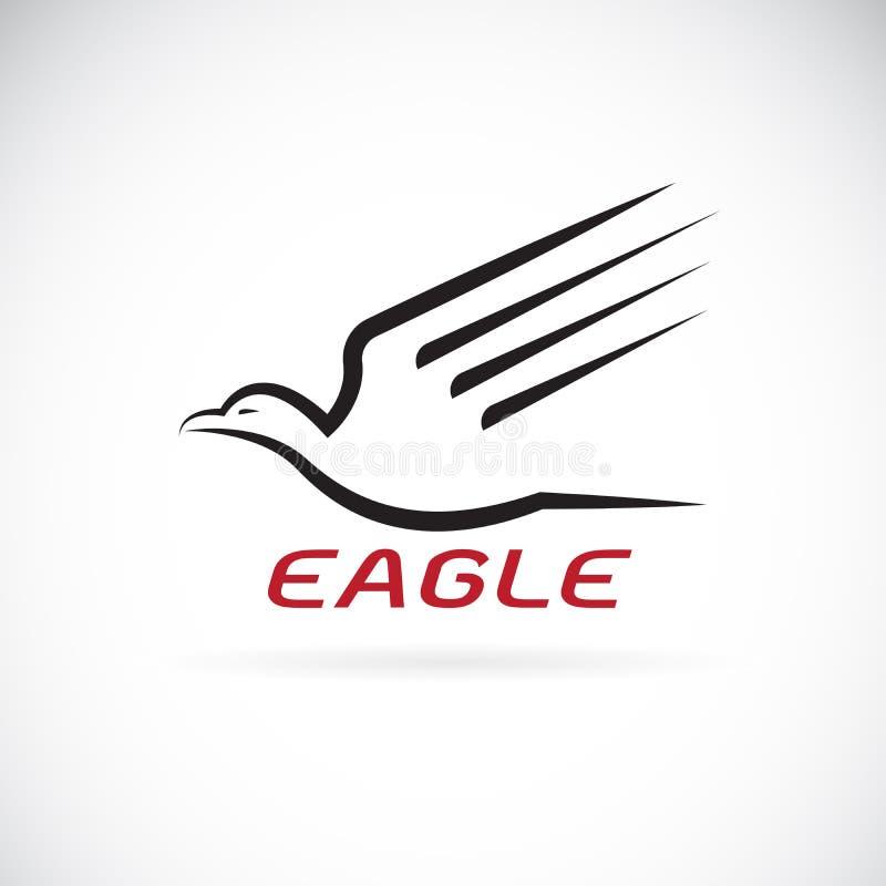 Vecteur d'une conception d'aigle sur le fond blanc oiseau animaux illustration stock