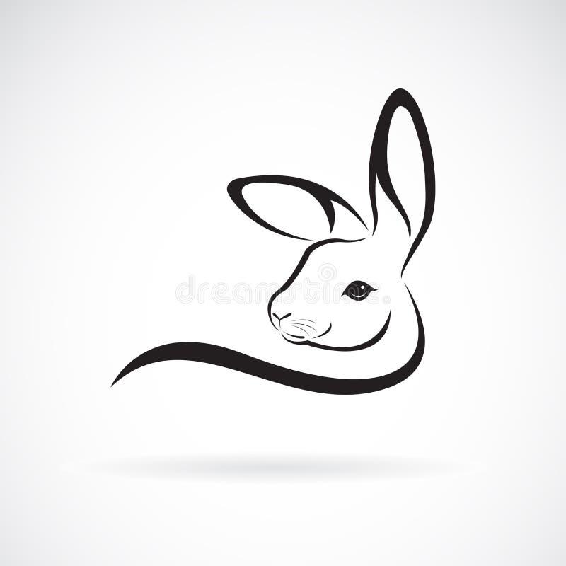 Vecteur d'une conception de t?te de lapin sur le fond blanc Animaux sauvages Logo ou icône de lapin Illustration pos?e editable f illustration de vecteur