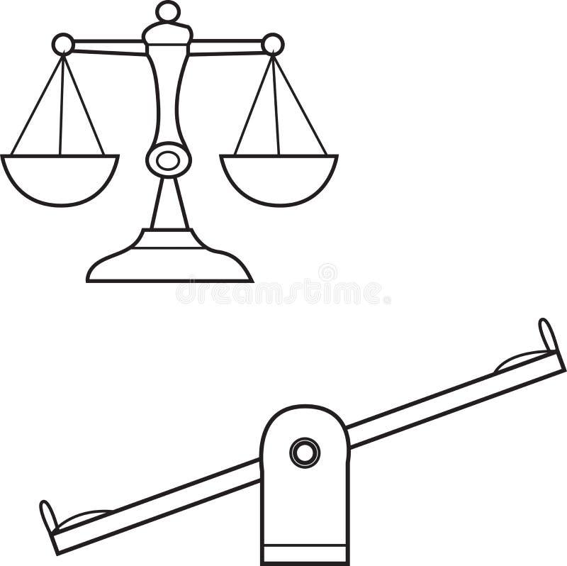 Vecteur d'une ligne d'échelle et de bascule illustration de vecteur