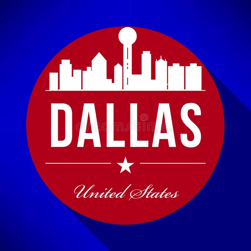 Vecteur Dallas City Skyline Design illustration de vecteur