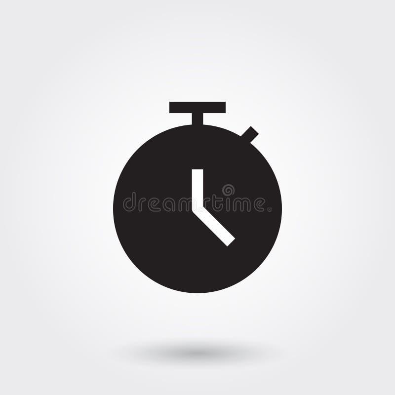 Vecteur, date-butoir, temps, horloge, montre, icône de Glyph parfaite pour le site Web, applis mobiles, présentation illustration stock